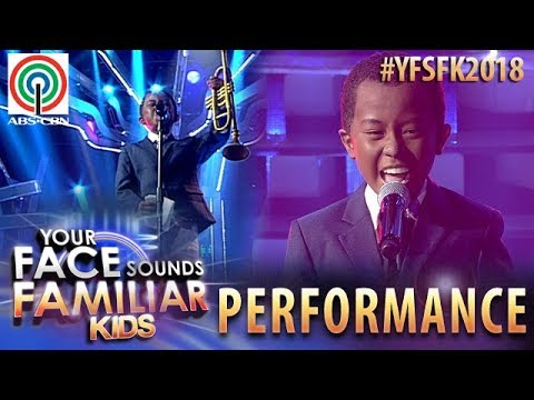 Your Face Sounds Familiar Kids 2018: Onyok Pineda as Louis Armstrong | What A Wonderful World