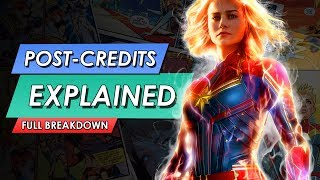 Captain Marvel: Post Credit Scenes Explained | END CREDITS MCU TIE IN???