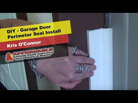 Diy Garage Door Perimeter Seal Keeps Bugs Debris And Cold Out