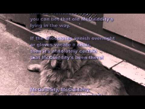 McQuiddity for alto and guitar a parody of T S Eliot's Macavity