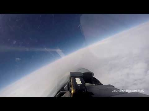 Russia's Su-27 'escorts' US & Swedish spy planes