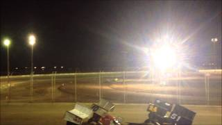 Imperial Valley Speedway Dwarf Heat Race (2) 11-16-13