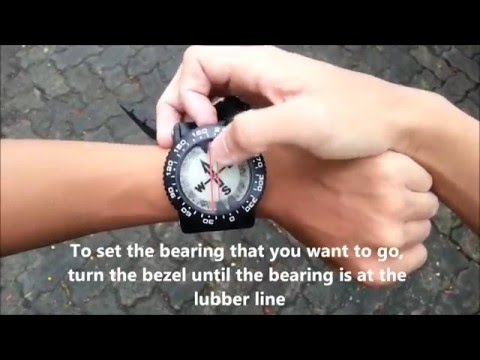 Basic Magnetic compass navigation tutorial for scuba diving