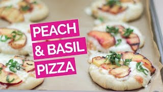 Mini Peach & Basil Pizza Recipe