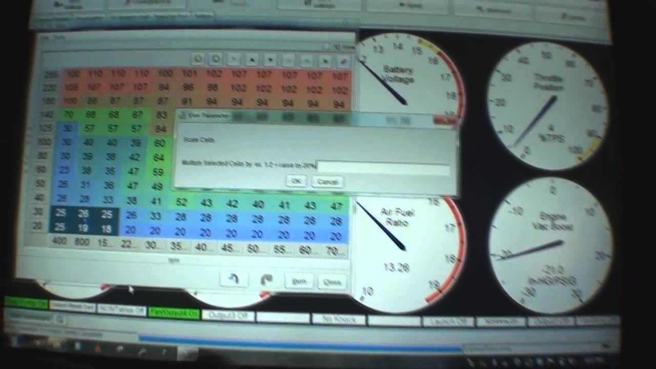 7-18-13 quick how to tune Megasquirt fuel tables