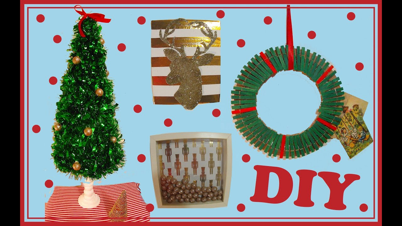 Diy no l 4 id es de d co facile faire soi m me youtube for Idees deco table noel