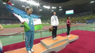 2010広州アジア大会 女子100メートル 決勝 表彰式 福島千里 福島千里 検索動画 25