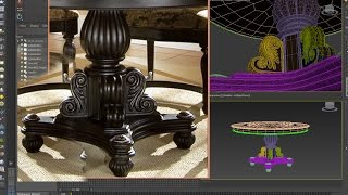 3dsmax tutorial - Round dining room Classic modeling