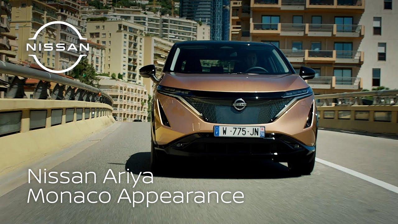 The Nissan Ariya makes public debut in Monaco