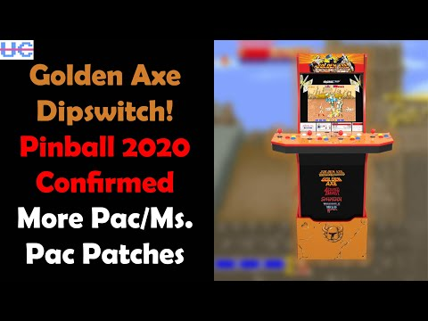 Arcade1up's Golden Axe Cab Has Dipswitch Access! 2020 Pinball Confirmed And a Mystery Cab Incoming from Unqualified Critics