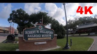 The Robert W. Willaford  Railroad Museum and the  train viewing platform,  Plant City, Florida