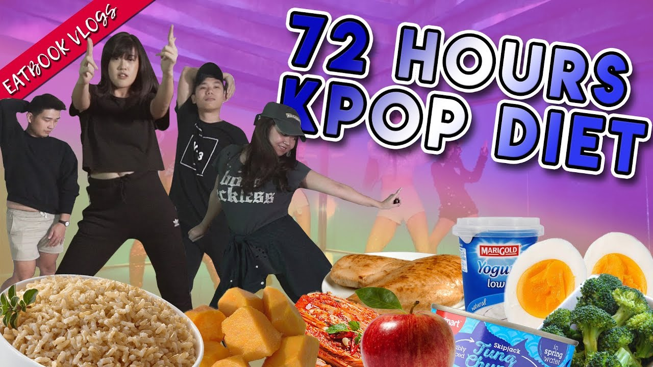 KPOP DIET AND EXERCISE FOR 72 HOURS!   Eatbook Vlogs   EP 91