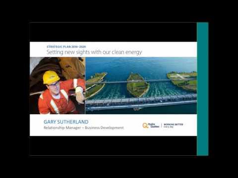 """GSEP webinar: """"Hydro-Québec's 2016 2020 Strategic Plan"""""""