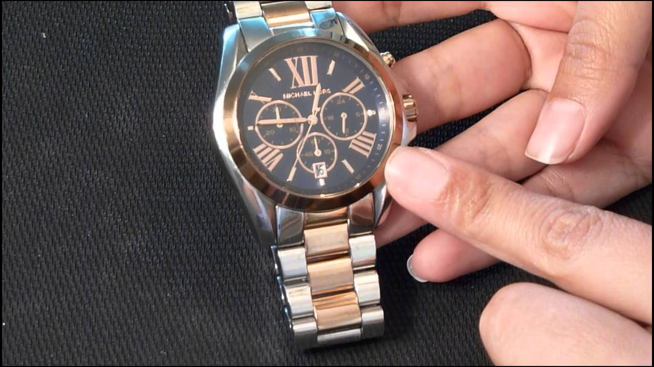 Michael Kors Chronograph Bradshaw Two Tone Stainless Steel watch review - YouTube