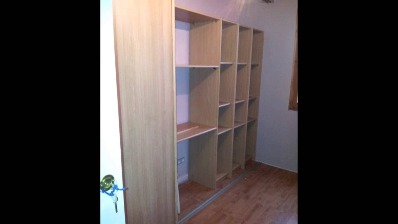 Fabrication d 39 un dressing avec bureau incorpor youtube for Dressing chambre pas cher