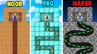 MINECRAFT - UCIECZKA Z WIĘZIENIA CHALLENGE | NOOB vs PRO vs HAKER | Vito vs Bella