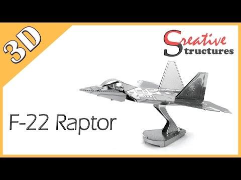 3D metal model & puzzle - F-22 Raptor (Aviation)
