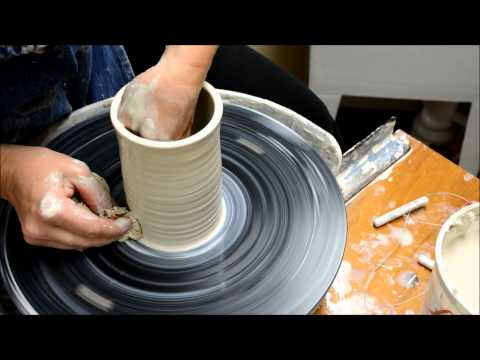 Wheel Throwing- How To Throw A Simple Cup Form on the Potter's Wheel