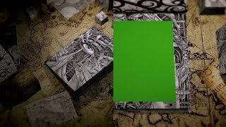 4K Mysterious Illustration Book Opening Intro Green Screen Source.