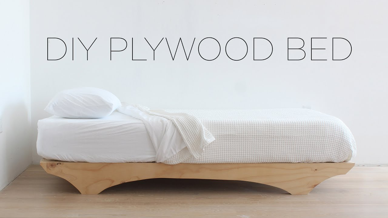 Diy Plywood Bed Youtube