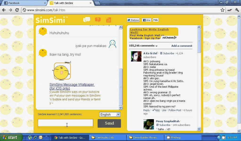 Simsimi online chat free