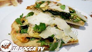 557 - Pinsa romana alla Bocca..senti lì come schiocca! (focaccia salata facile, croccante e leggera)