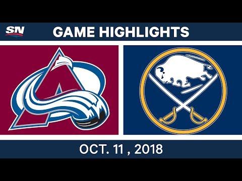NHL Highlights | Avalanche vs. Sabres - Oct. 11, 2018