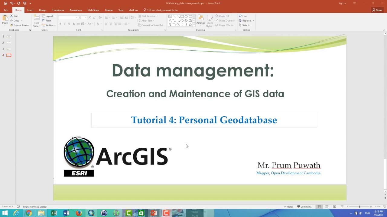 Tutorial 4: Geodatabase management