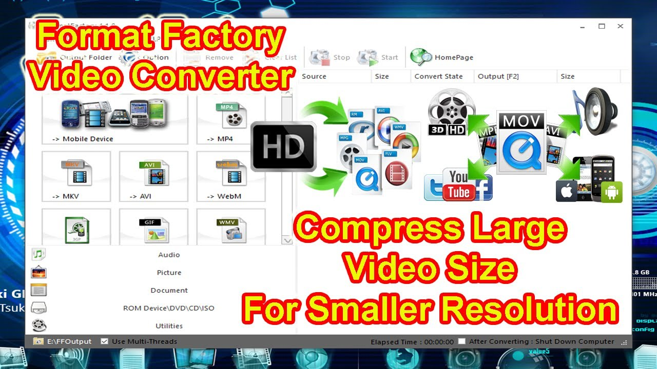 How to reduce video size for smaller resolutionusing format factory how to reduce video size for smaller resolutionusing format factory converter compress large files ccuart Image collections
