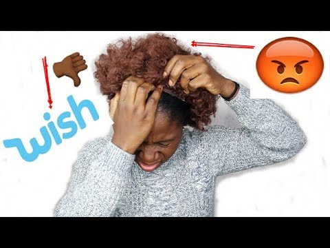 WISH BUT WHY? I BOUGHT A WIG FROM WISH WTF IS THIS (PART 2 )