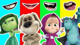 Wrong Mouths Masha Talking Ben Monsters Inc Inside Out Finger Family Song