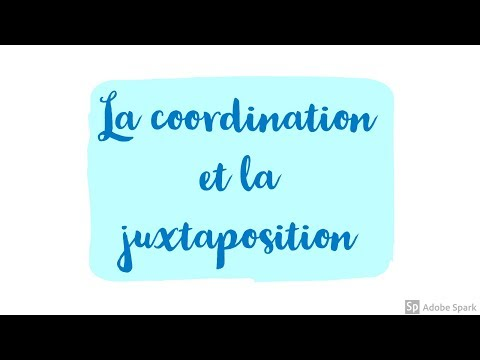 juxtaposition et coordination, 6ème - Cours de français et ...
