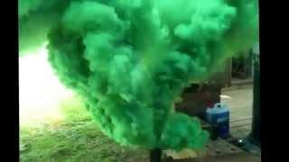 Green smoke bomb - third attempt