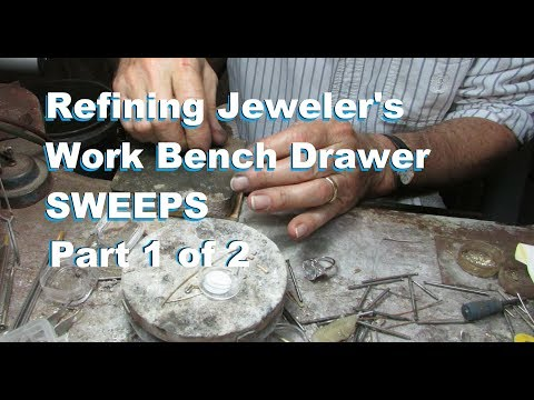 Gold Recovery Jeweler's Work Bench Drawer Sweeps Part 1of2