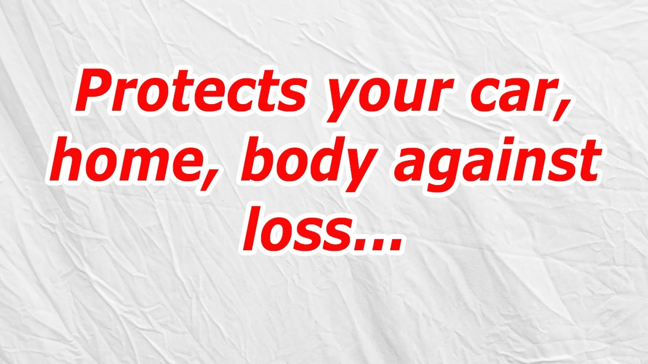 Protects Your Car Home Body Against Loss Codycross Answercheat