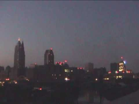 Cleveland during the blackout of August 14, 2003.