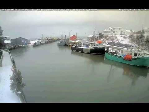 Hall's Harbour NS, Time Lapse Movie Dec 26, 2011 4.5 Hours In 2:46 Minutes