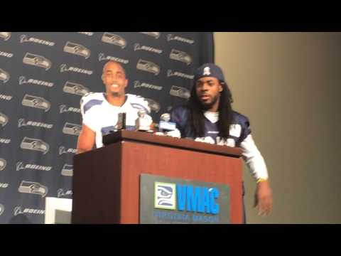 Richard Sherman, Doug Baldwin mock NFL media policies video