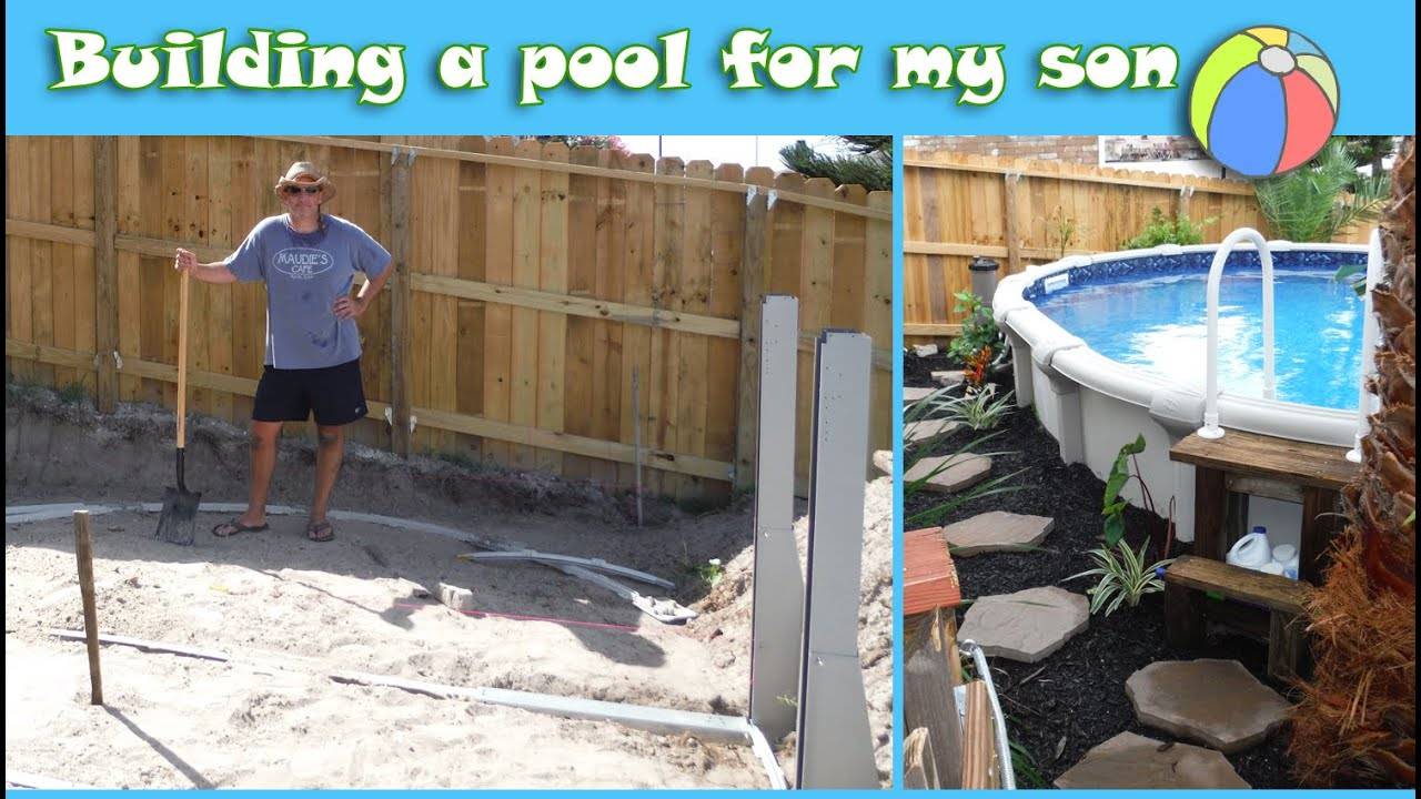 i built a semi above ground pool for son with autism youtube. Black Bedroom Furniture Sets. Home Design Ideas