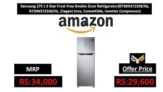 Samsung 275 L 3 Star Frost Free Double Door Refrigerator(RT30N3723S8/NL, RT30N3723S8/HL)