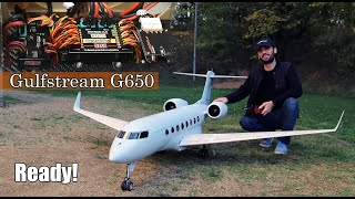 Installing the electronics in my Gulfstream G650 RC airplane | Part 7
