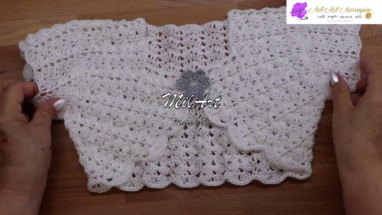 Bolero Crochet para Niña 4 años fácil paso a paso - YouTube 0cac89cf089b