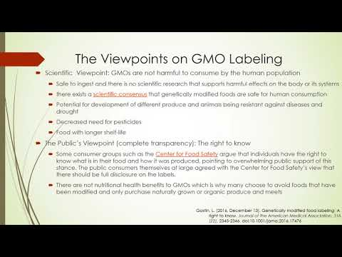 Labeing of GMO foods