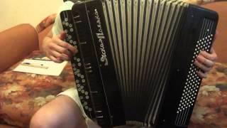 карлыгач медленно(видео урок для баяна)
