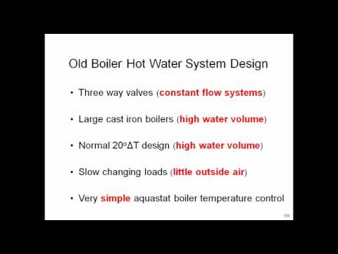 Energy Efficient Hot Water Boiler Plant Design - Part 2
