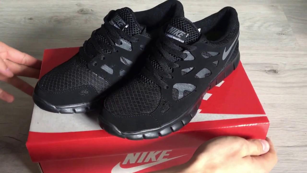 Обзор Nike Free Run 2.0 Black - YouTube 2b83b5a6dcd51