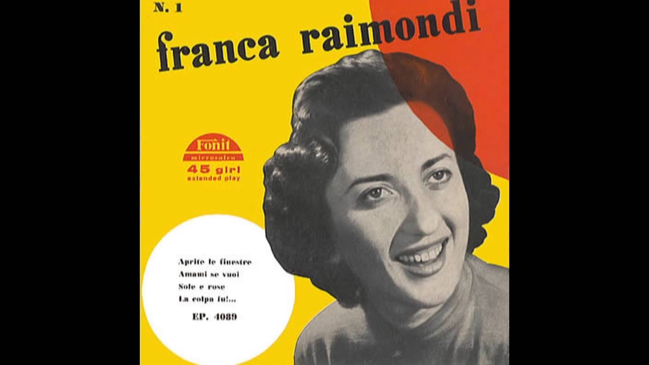 Aprite le finestre franca raimondi italy 1956 single version youtube - Franca raimondi aprite le finestre ...