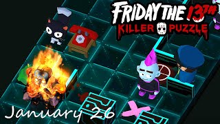 Friday the 13th Killer Puzzle Daily Death January 26 2021 Walkthrough