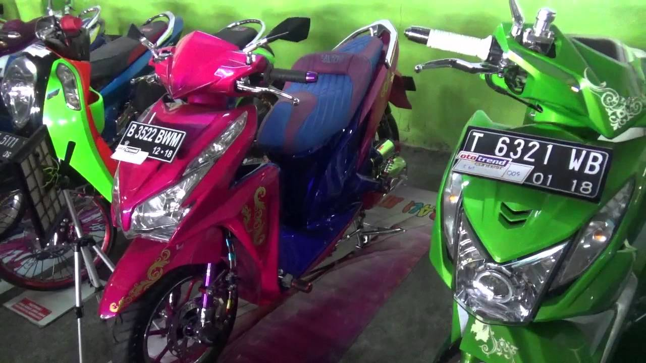 modifikasi honda vario 125 mothai pink colour - youtube