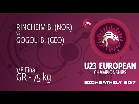 1/8 GR - 75 kg: B. GOGOLI (GEO) df. B. RINGHEIM (NOR), 9-4